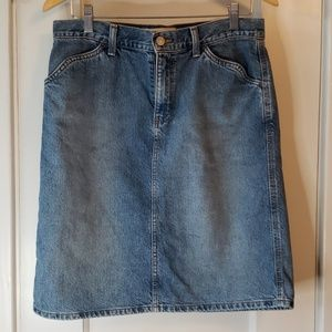 Gap jeans- denim skirt size 8